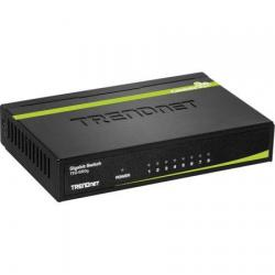TRENDnet 8-Port Unmanaged Gigabit GREENnet Desktop Metal Switch, Ethernet Splitter