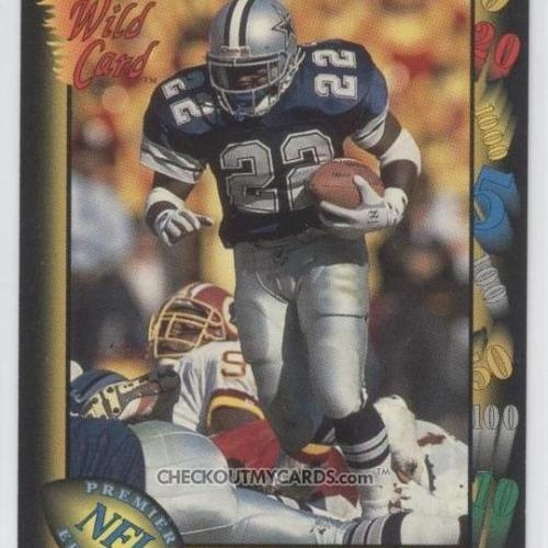 Emmitt Smith Football Card