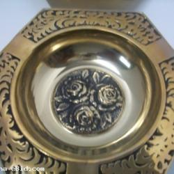 Vintage Solid Brass Ash Tray Set