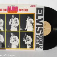 Elvis Presley Having Fun With Elvis On Stage LP