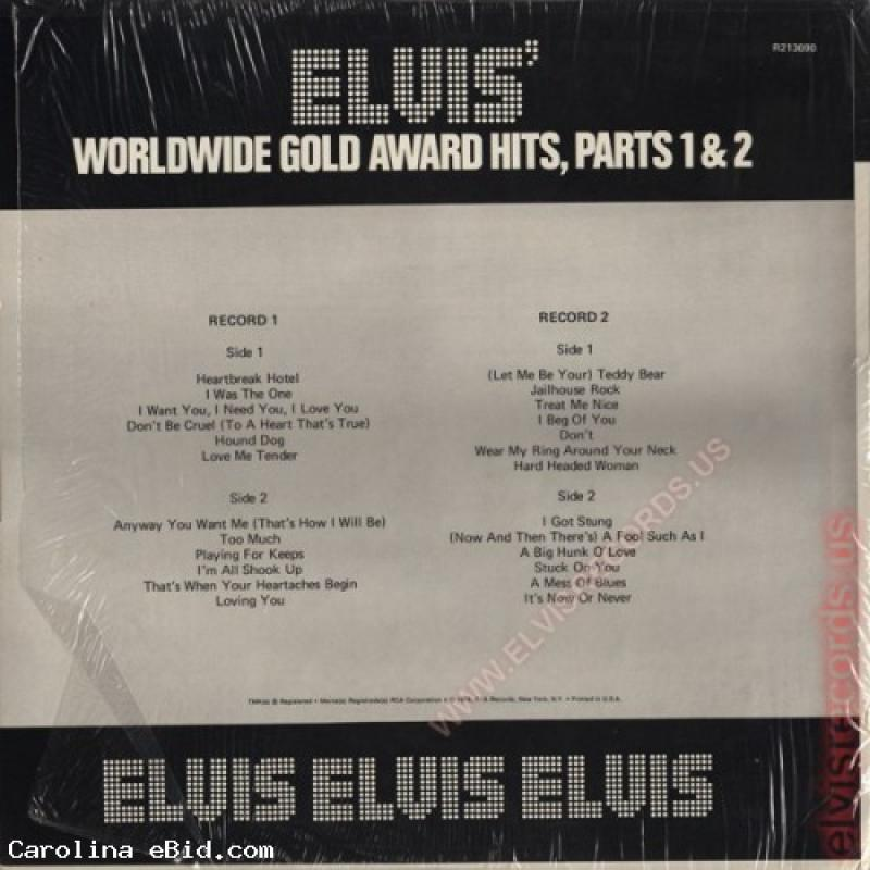 Elvis Presley ‎Worldwide Gold Award Hits, Parts 1 & 2