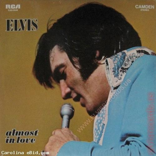 ELVIS ALMOST IN LOVE CAS 2440 LP ALBUM