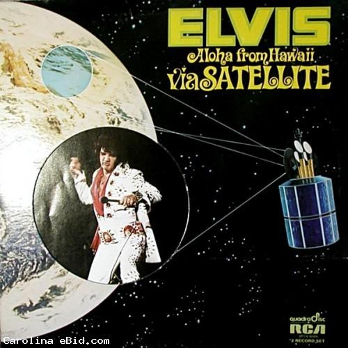 Elvis Presley 2 RARE record albums LP Aloha from Hawaii